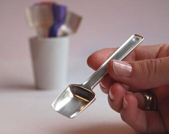 Solid silver Gelato spoon - Tulip