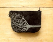 Tree Wallet Recycled Black Suede