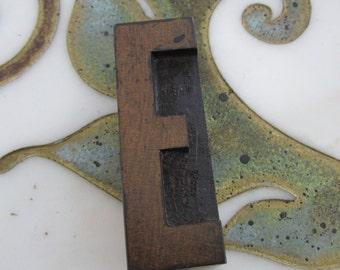 Letter E Antique Letterpress Wood Type Printers Block