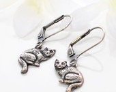 Cat Jewelry Kitty Earrings Sitting Pretty - Kitty Cat - Animal Inspired Jewelry - Cat earrings - Cat jewellery - Crazy Cat Lady
