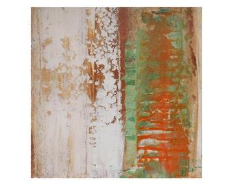 "ORIGINAL Abstract Painting ""Cantaloup 1"" by Lisa Carney, Textured Acrylic, Modern Art, Minimalist Painting, Reductive Art, Small Impasto Art"