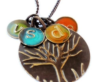Personalized Family Tree Necklace | Mom Gift | New Mom Necklace | New Mom Gift | Baby Shower | New Grandma Gift | Sister Aunt Gift