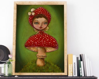 TOADSTOOL. Sometimes inspiration is found in the most unexpected places, like a mushroom on the forest turned fairy on a painting by Danita