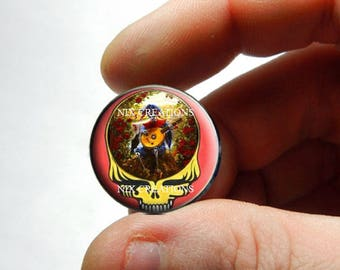 Glass Cabochon - Grateful Dead Steal Face Head Design 16 - for Jewelry and Pendant Making