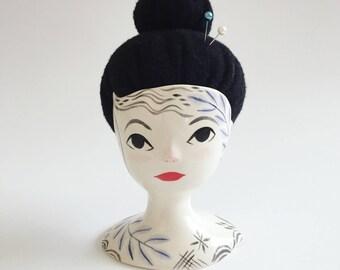 Ceramic Gentlewoman Pincushion no. 55