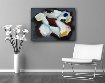 Black and White Abstract Art, abstract expressionism, custom art, modern art, colorful, wall art, canvas art, original art
