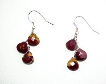 Norma - Mookaite earrings