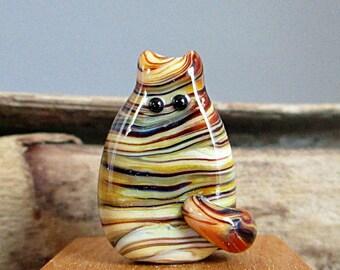 Handmade Cat Bead Lampwork Focal - Coleman FatCat