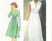 Simplicity 5922 - Vintage 1970s PRINCESS SEAMED Draped DRESS - Sewing Pattern - Size 14 - 36 Bust- Uncut