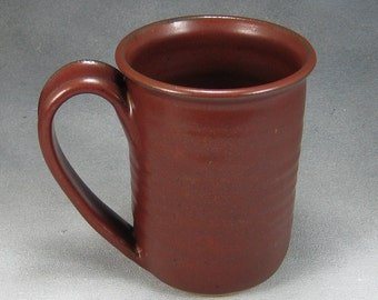 Coffee Mug One Rust Red 14-16 Ounce Pottery Coffee Mug Ceramic Coffee Mug Coffee Cup Hand Thrown Stoneware Pottery A