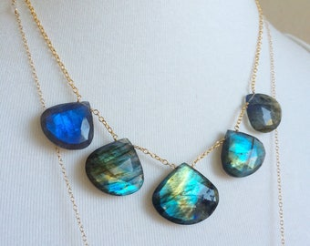 Labradorite Large Briolette Necklace