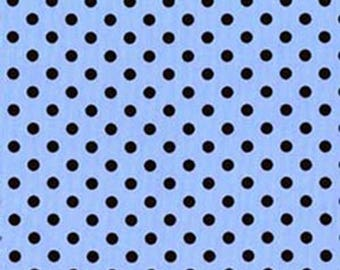 Michael Miller Dumb Dot Boy Blue Brown Apparel Quilting Fabric BTY