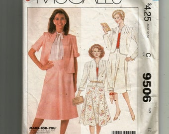 McCall's Misses' and Women's Jacket and Skirt Pattern 9506