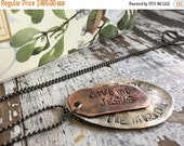 FLASH SALE- Reserved-Stamped Spoon Necklace-Stamped Jewelry-Give Me Jesus