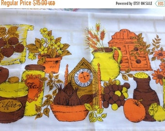 40% OFF- Vintage Retro Curtains-Seventies Kitchen-Like New