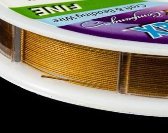 Gold .014 Inch 49 Strand Econo Flex Beading Wire (15 Ft)  #WRK200