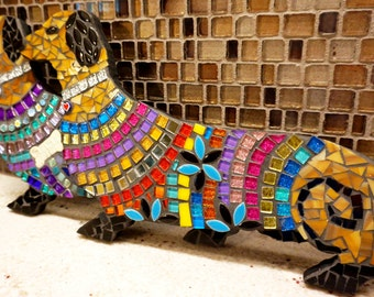 One of a kind Dachshund Wiener Dogs Handmade Mosaic Art Choose from 3