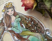 Bookmarks  -  Laminated - Charm - Paper Goods - Handmade - Paper Craft - The Princess and the Dragon - Fantasy Art - Anime