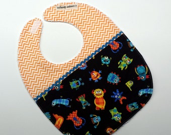 Baby Boy Bib-Baby Girl Bib-Monsters-Baby Shower Gift
