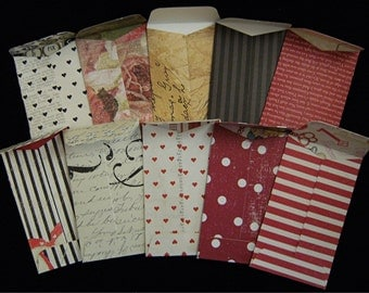 """10 """"Romance"""" Coin Envelopes 2.25 inches X  3.75 inches"""
