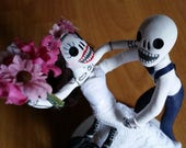 Day of the Dead Wedding Cake Topper~ Reserved for Jessica