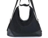 Convertible hobo purse,convertible backpack,travel backpack,Black women backpack, office purse,backpack purse, convertible shoulder bag
