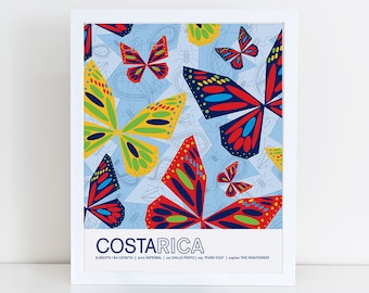 Costa Rica travel poster