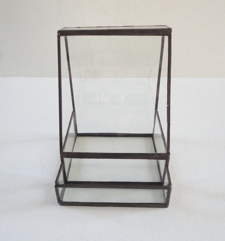 Glass Terrarium, Business Card Holder, Planter, Home Decor, Garden ...