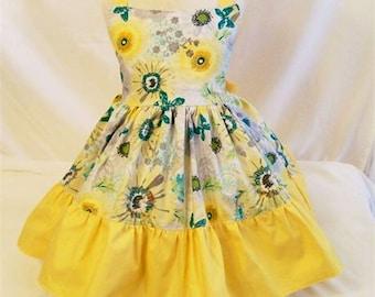 Girls Dress, Girls Dresses, Girls Halter Dress, Girls Clothing, Baby Toddler Big Girls Dress, Girls Summer Dress, Handmade, USA Made, #98