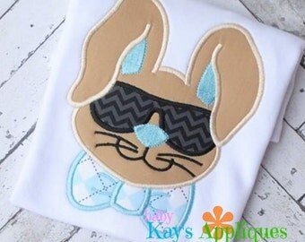 Cool Shades Easter Bunny Applique Design 4x4, 5x7, 6x10, 8x8