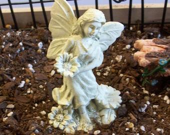 Miniature fairy garden white statue: fairy garden or gnome or terrarium gardens