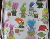 Simplicity 8207 Troll Elf Munchkin Gnome Doll Clothes UNCUT