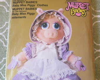 Vintage Vogue 9179 Jim Henson's Muppet Babies Baby Miss Piggy Clothes Sewing Pattern