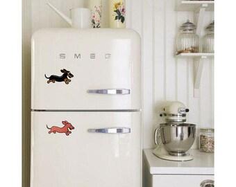 Dachshund Refrigerator Magnets: Wahoo Wiener Smooth Coat
