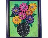 Gerber Daisy Painting - A...