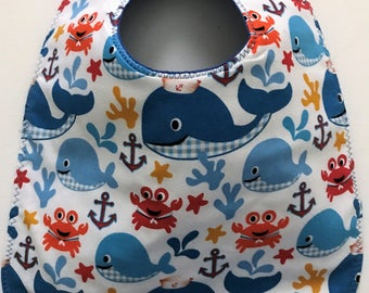 Baby Bib:  Sea Life Whales Crabs and More