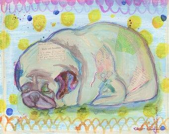 Pug Loaf, Pug Dog Lover Art Gift, Pug Gift For Her, Pug Decor Gift,Dog Lover Gifts For Women Under 30,Funny Animal Art Print,Dorm Decoration