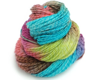 Starburst, Hand Dyed, Hand Painted, Twisted, Worsted, Yarn