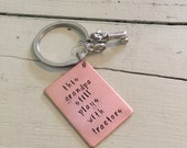 My grandpa still plays with tractors keychain-fathers day gift