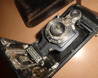Antique Kodak Camera Kodak Jr no 1 A/ Eastman Kodak Camera with Leather Case/ Vintage Kodak Camer
