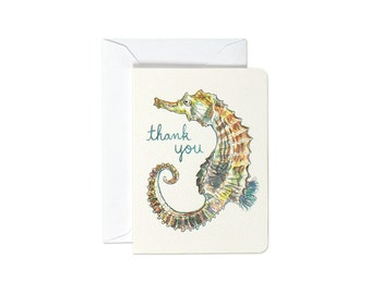 Seahorse Thank You Mini Card