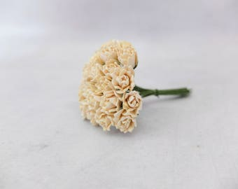 25 10mm ivory paper flower buds - budding flowers - blooming flowers - paper flowers