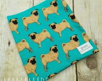 Pugs - Reusable Sandwich Bag | Snack Bag | Waterproof | Travel Bag from green by mamamade