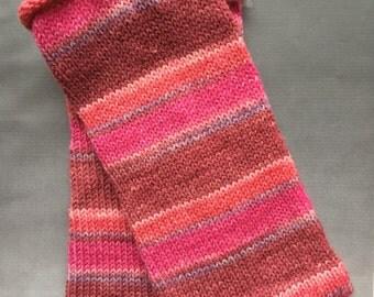 Handcranked Texting Mitts, Fingerless Gloves, Superwash wool