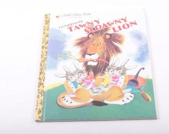 Tenggren's, Tawny Scrawny Lion, Little Golden, Book, Classic, Vintage, Children's, Illustrated ~ The Pink Room ~ 170208