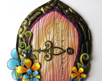 Springtime Fairy Door by Claybykim Polymer Clay Miniature Fairy Gardens and Home