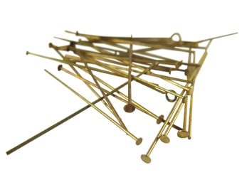 Random Mix Head Pins & Eye Pins (16 grams - approx. 100x) (F565)