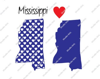 Mississippi, Jackson, Ole Miss, Sweet Tea, Delta, Catfish, USA, Red, White, Blue, Vector, SVG, Silhouette, Commercial Use, Personal Use