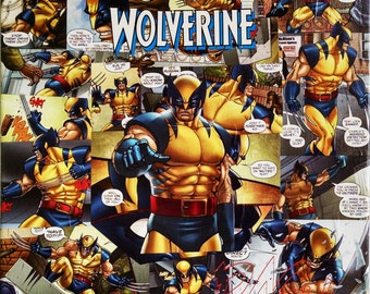 Wolverine Decoupaged Canvas