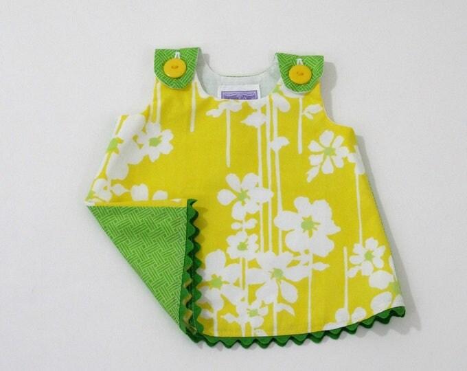 Yellow Daisy Newborn Dress, Baby Dress, Girls Dress, Baby Girls Dress, Baby Shower Gift, New Baby Gift, Take Home Outfit, Size Newborn